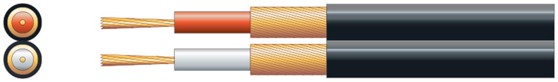 Mercury Twin Core RCA Cable Black 100m 803.436UK