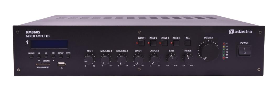 Adastra RM360S 100V 4Z 360W Amp FM/USB/BT 953.216