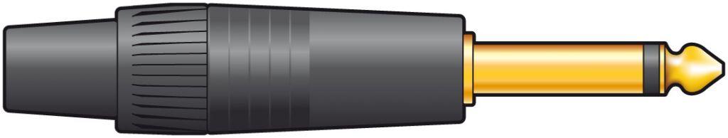 Neutrik NP2XB 6.3mm Mono Plug 993.040UK