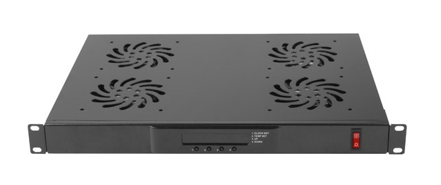 Lanberg 1U 230V Ventilation Panel LCD Display