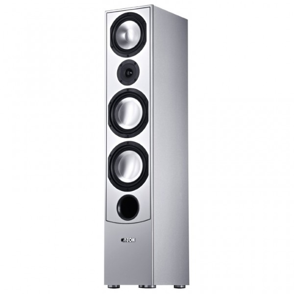 OPEN BOX Canton GLE 490.2 Walnut/White Column Speaker 320W