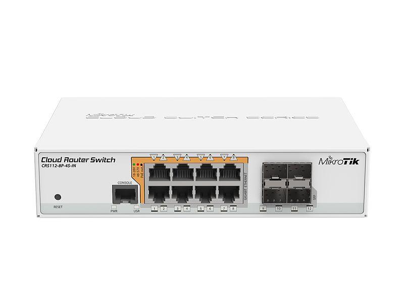 Mikrotik CRS112-8P-4S-IN 8-Port Gigabit PoE Switch