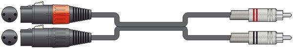 Chord Classic 2 XLRF to 2 RCA 1.5m 190.062UK
