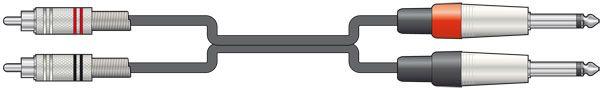Chord Classic 2 RCA - 2 x 6.3mm Mono 1.5m 190.067UK