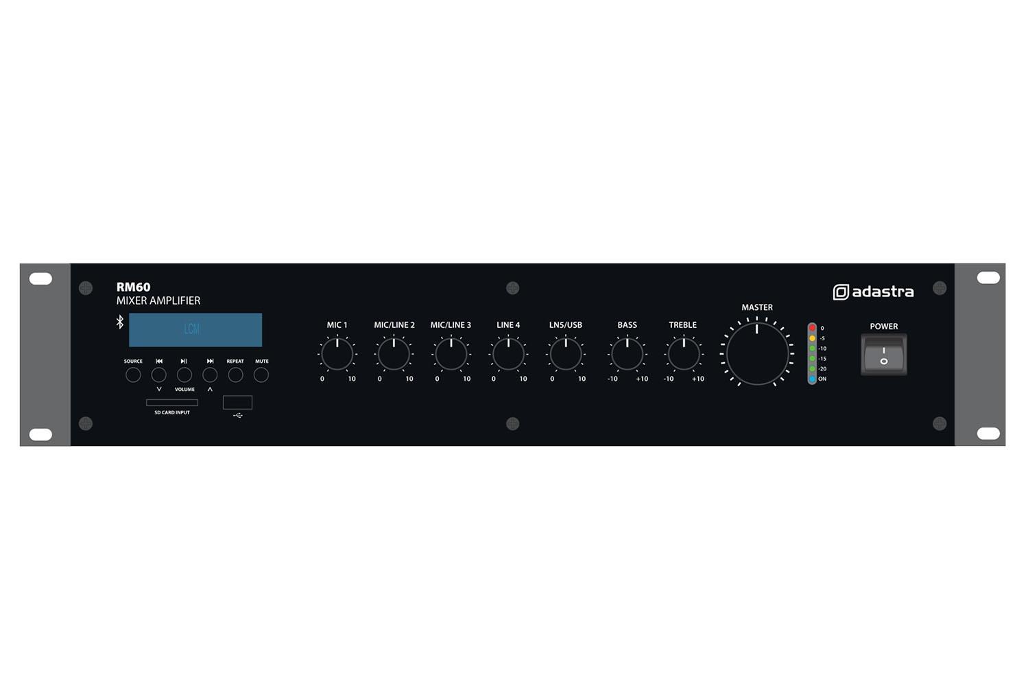 Adastra RM60 v2 100V Amp 60W FM/USB/Bluetooth 953.213UK