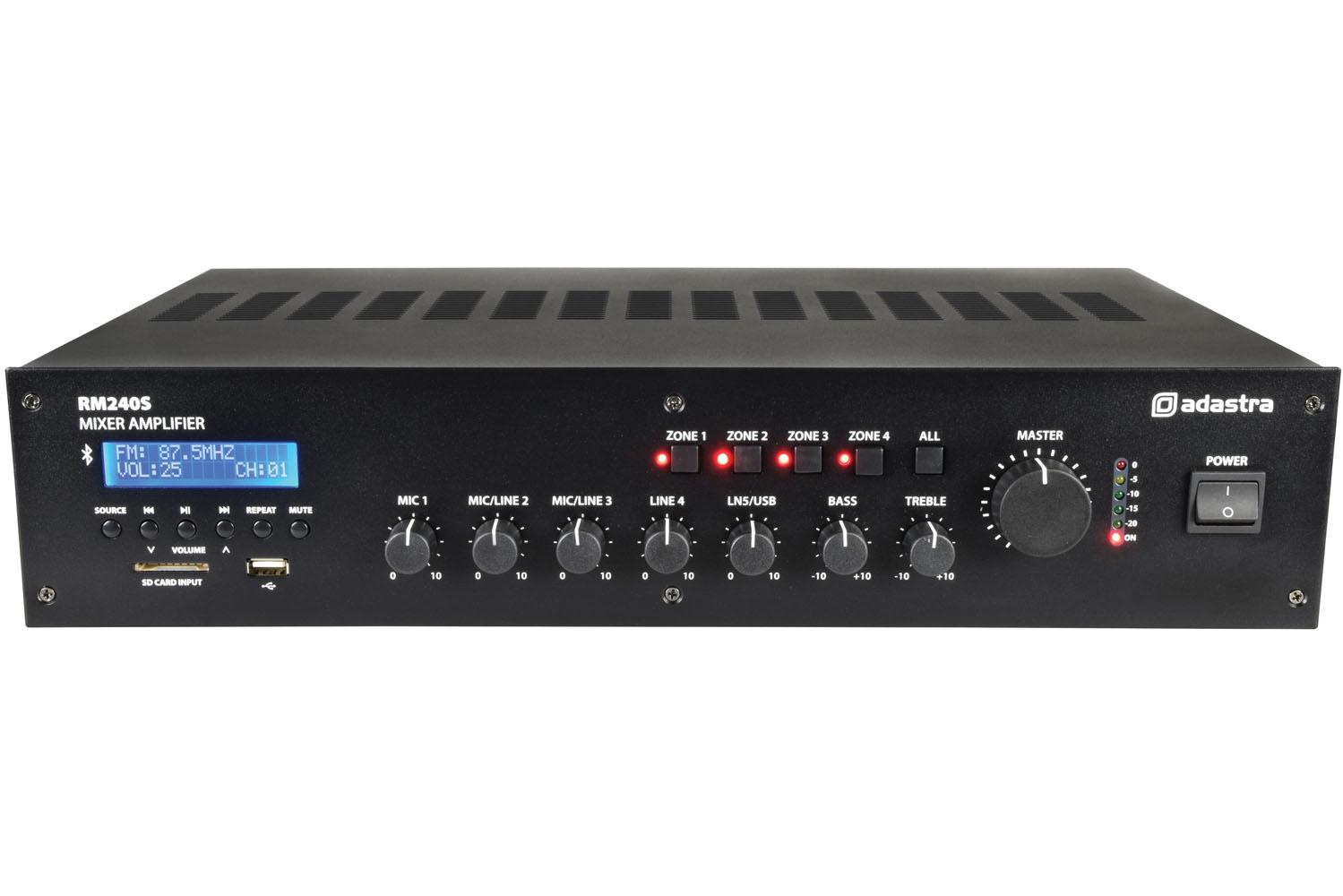 Adastra RM240S v2 100V 4Z 240W FM/USB/BT 953.215UK
