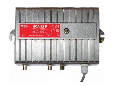 FTE HCA42P Line Amplifier 42db/129db Aluminium