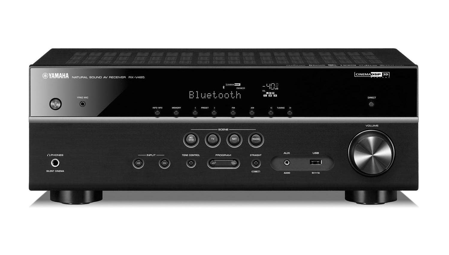 Yamaha RXV485B 5.1 Network Receiver USB/BT/WIFI/FM