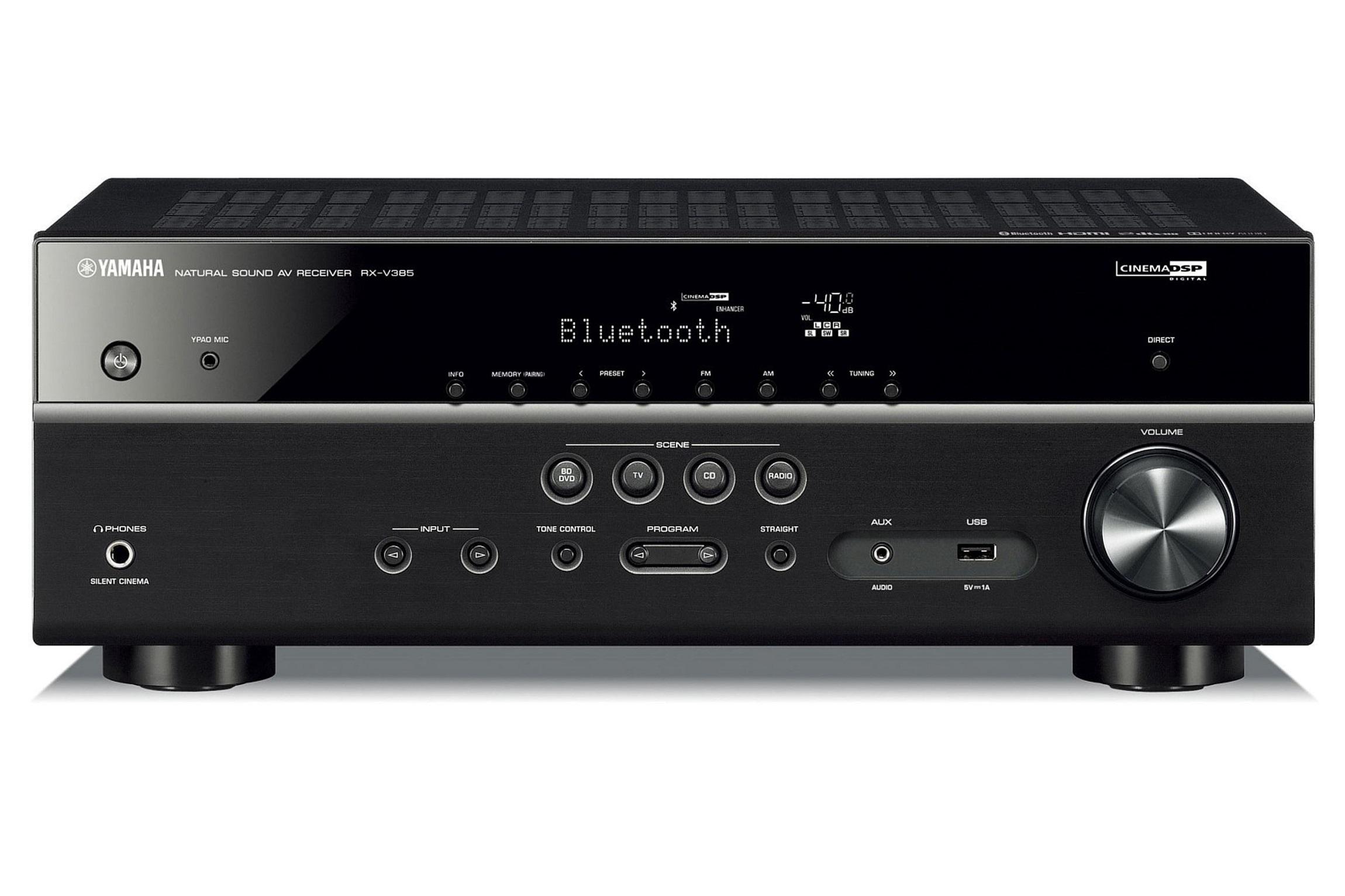 Yamaha RXV385B 5.1 AV Receiver USB/BT/FM Black