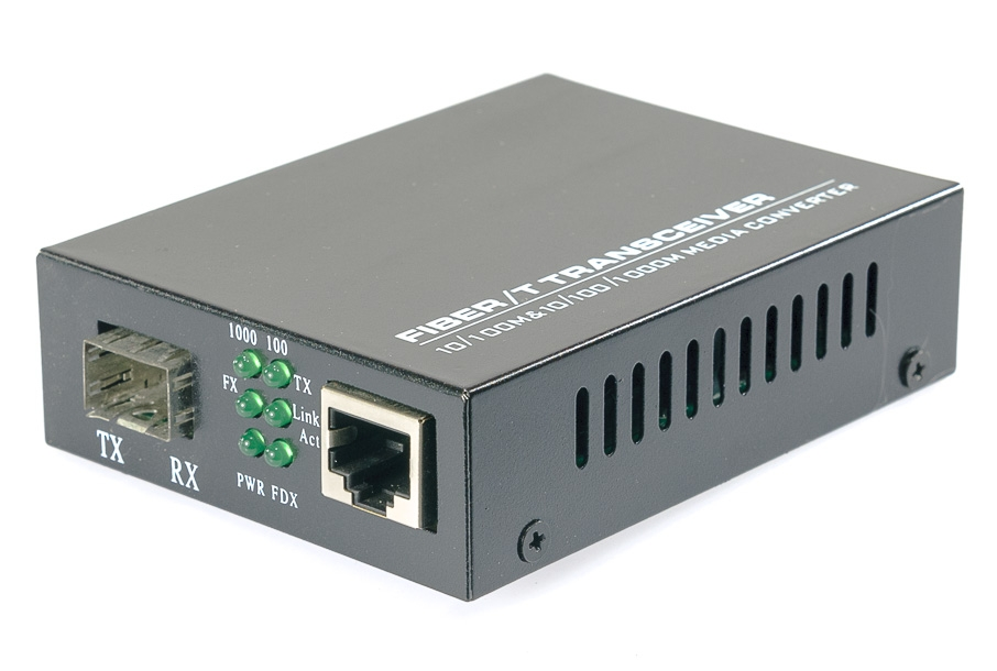 Media Converter SFP - RJ45 10/100/1000