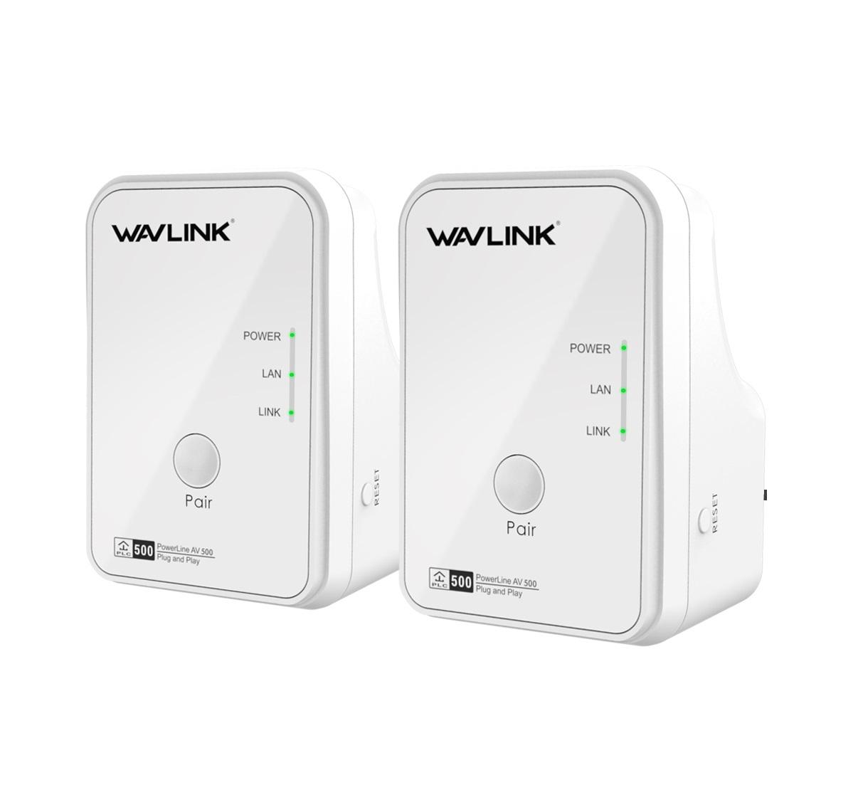 WavLink WL-NWP502M2 AV500 Ethernet Powerline Kit UK