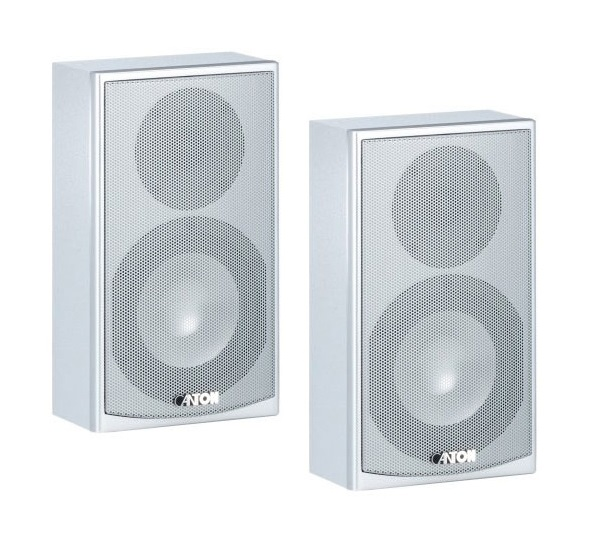 Canton Ergo610 Flat Slim Profile White Speakers (pair)