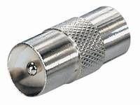 Coaxial Coupler Male-Male Metal FS9ML